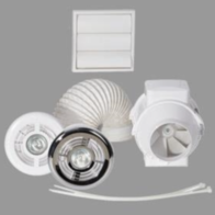 Airflow Aventa In-Line Mixed Flow Extractor Fan LED light Kit 100mm 9041408