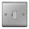 BG Nexus Metal Brushed Steel 13A Unswitched Spur Flex Outlet NBS55