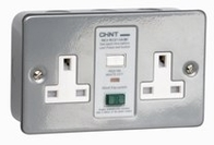 Chint Metal Clad NE2RCD-13AM Twin RCD Socket