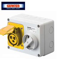 Gewiss Interlocked Switched Socket 16A 2P & E 110V GW66001