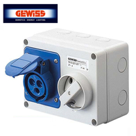Gewiss Interlocked Switched Sockets 16A 2P & E 240V GW66004