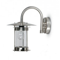 JCC JC98001SS Excelsior Wall Lantern With Top Arm Stainless Steel