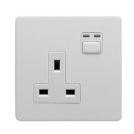 LightwaveRF Remote Controlled Single Socket White Metal JSJSLW260WH