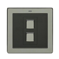 LightwaveRF Wire Free Dimmer Switch Black Chrome JSJSLW201BLK