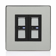 LightwaveRF Remote Control Dimmer 2 Gang Polished Chrome JSJSLW420C