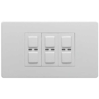 LightwaveRF Remote Control Dimmer 3 Gang White Metal JSJSLW430WH