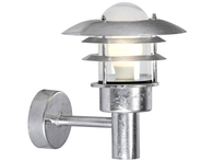 Nordlux Lonstrup 22 Garden Wall Light 60w Galvanised 71431031