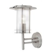 Saxby Outdoor Lighting York Wall Light Polished Stainless Steel 4478182