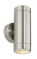 Saxby Oddysey Twin Wall Light Spot 35w GU10 Brushed Stainless ST5008S