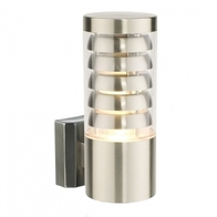 Saxby Tango Garden Wall Light Brushed Stainless 11w 13921