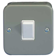 Schneider Metal Clad Light Switch GMC1012
