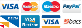 We accept the following payment methods