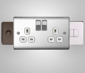 Raised Plate Switches & Sockets