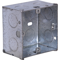 1 Gang 47mm Galvanised Socket Box - SB471
