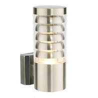 13921 Saxby Lighting Tango IP44 11W Wall Light (Brushed Stainless)