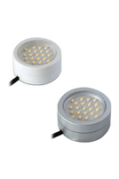 2W Mains Voltage Cabinet Light Satin Silver R2CLED240-15