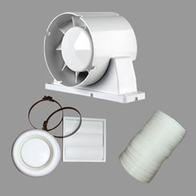 Airflow Aura In-Line Shower Timed Extractor Fan Kit 9041419