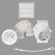 Airflow Aventa In-Line Mixed Flow Extractor Fan Kit 125mm 9041406