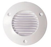 Airflow Round External Grille White 100mm 72596202