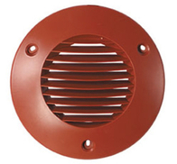 Airflow Round External Grille Terracotta 100mm 72596201