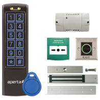 Aperta Black Proximity Keypad and Contactless Exit Button Door Entry Kit EZTAG3PROBC