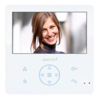 Aperta Colour Video Door Entry Monitor with Record Facility White APMONWG