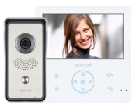 Aperta Colour Video Door Entry System with Record Facility White APKITG