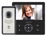 Aperta Colour Video Door Entry System with Record Facility Black APKITGBLK