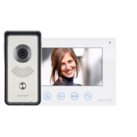 Aperta Colour Video Door Entry System With White Monitor APKIT