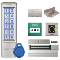 Aperta Proximity Keypad and Contactless Exit Button Door Entry Kit with Foot-Pull EZTAG3PROCF