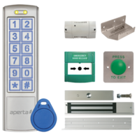Aperta Proximity Keypad and Mushroom Exit Button Door Entry Kit with Foot-Pull EZTAG3PROMF