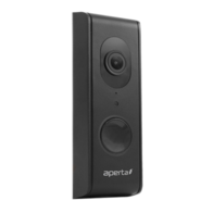 Aperta Wired Wi-Fi Door Station with Record Facility Black APWIFIDSBLK2