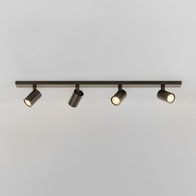 Astro Ascoli Bronze Effect Four Bar Ceiling Light 1286008