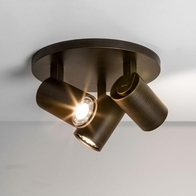 Astro Ascoli Bronze Effect Triple Round Ceiling Light 6146
