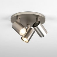 Astro Ascoli Matt Nikel Triple Round Ceiling Light 1286012