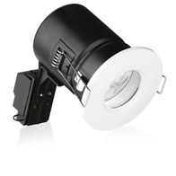 Aurora ENLITE GU10 Shower Downlight IP65 Fire Rated White EN-FD103W