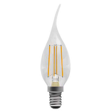 BELL Lighting 4W LED Filament Bent Tip  Candle SES Warm White 05026