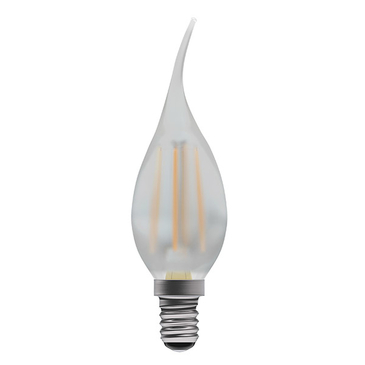 BELL Lighting 4W LED Filament Bent Tip Satin Candle SES Warm White 05027 image 1