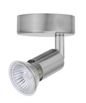 Bell Lighting Luna Single GU10 Spotlight Satin Silver - 10374