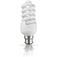 Bell Lighting Mini Energy Saving 7W Spiral BC Quick Start Lamp 05001