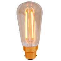 Bell Vintage Light Bulb BC 4W LED Amber 01461
