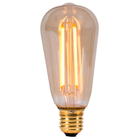 BELL Lighting Vintage 4W LED Squirrel Cage Lamp ES Amber 01462