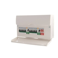 BG Electrical 3rd Amendment Populated Metal Consumer Unit with 6 MCB's CFDP18606
