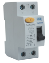 BG Electrical Double Pole Time Delay RCD 80A 100mA CUR80100TD