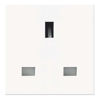 BG Electrical Euro Module Unswitched Socket White EMUKSW