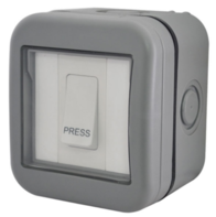 BG Electrical IP55 Outdoor Bell Push Light Switch WPB14