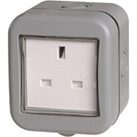 BG Electrical IP55 Outdoor Unswitched Socket WPB23