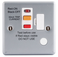 BG Electrical Metal Clad 13A Unswitched RCD Spur MC554RCD