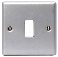 BG Electrical Metal Clad 1G Light Switch MC512