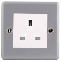 BG Electrical Metal Clad 13A Unswitched Socket MC5USS